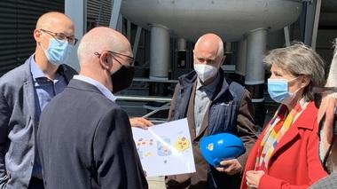 Bundesrätin Simonetta Sommaruga besichtigt die erste industrielle Power-to-Gas-Anlage der Schweiz