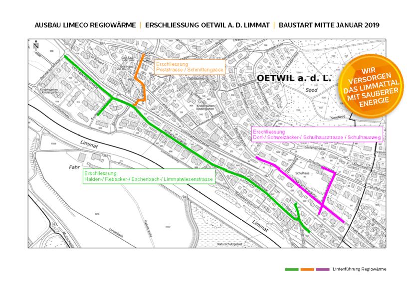Erschliessung Oetwil | Baustart Mitte Januar 2019