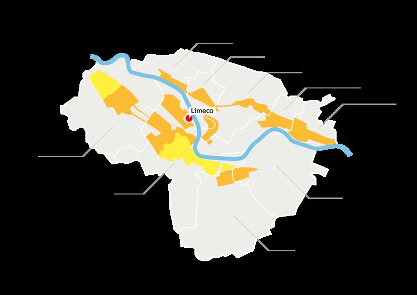 Versorgungsgebiet Limeco Regiowärme