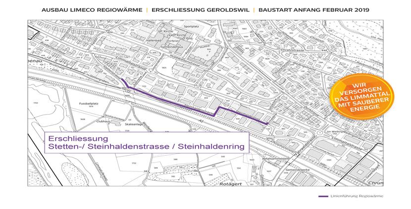 Ausbau Limeco Regiowärme nach Geroldswil