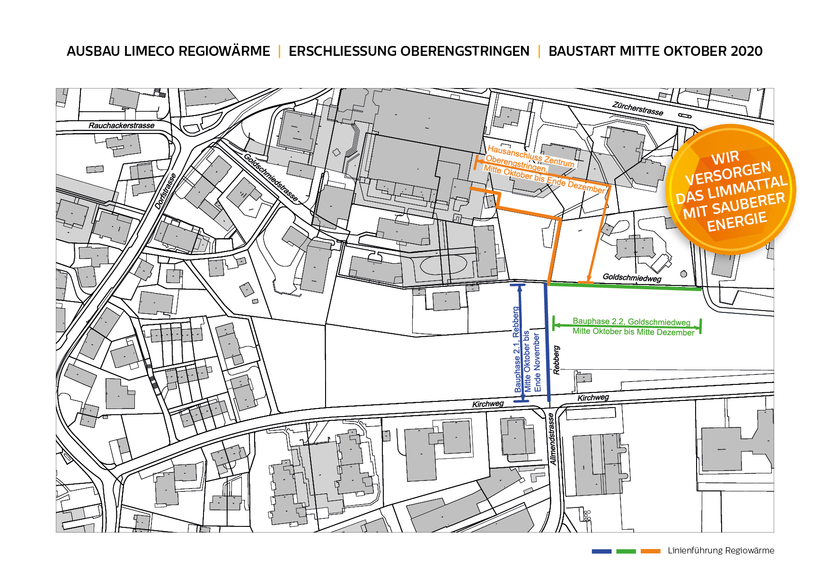 Ausbau Limeco Regiowärme in Oberengstringen